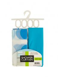 Bulk Buys OF005 Shower Curtain With Liner Rings Set (Pack of 2)